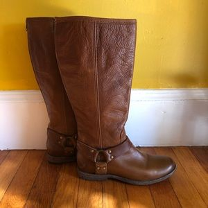 Frye Phillip tall moto harness boots